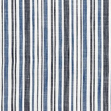 Marine Blue CHATHAM STRIPES Drapery and Upholstery Fabric by Scalamandre