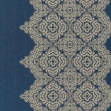 Indigo Jacquard Drapery and Upholstery Fabric by Scalamandre