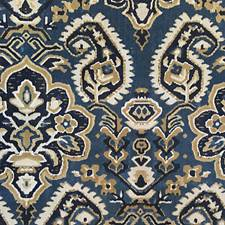 Indigo Jacquard Velvet Drapery and Upholstery Fabric by Scalamandre