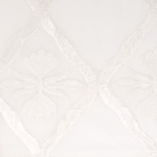 White Embroidery Drapery and Upholstery Fabric by Fabricut