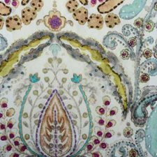 Turquoise Damask Drapery and Upholstery Fabric by Highland Court