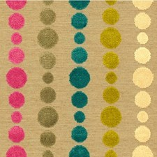 Beige/Pink/Blue Dots Drapery and Upholstery Fabric by Kravet
