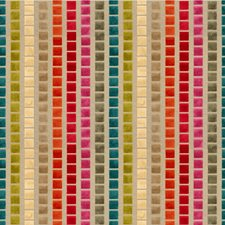 Beige/Blue/Pink Check Drapery and Upholstery Fabric by Kravet