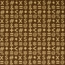 Tan Quotes Novelty Drapery and Upholstery Fabric by Fabricut