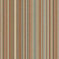 Blue/Orange/Beige Stripes Drapery and Upholstery Fabric by Kravet