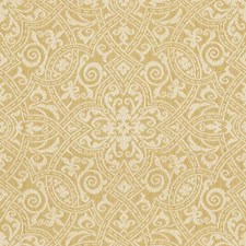Yellow/White Damask Drapery and Upholstery Fabric by Kravet
