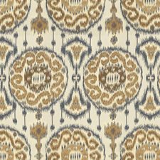 Beige/Brown/Blue Ethnic Drapery and Upholstery Fabric by Kravet