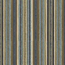 Beige/Blue/Brown Stripes Drapery and Upholstery Fabric by Kravet