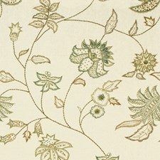 Green Tea Botanical Drapery and Upholstery Fabric by Kravet