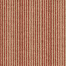 Red/Burgundy/Beige Stripes Drapery and Upholstery Fabric by Kravet