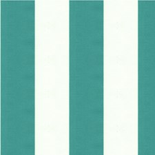 White/Turquoise Stripes Drapery and Upholstery Fabric by Kravet