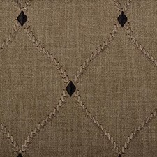 Black Walnut Diamond Drapery and Upholstery Fabric by Duralee