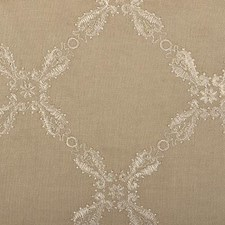 Khaki Embroidery Drapery and Upholstery Fabric by Duralee
