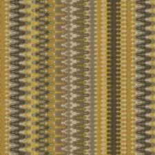 Beige/Yellow/Grey Ikat Drapery and Upholstery Fabric by Kravet