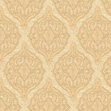 White/Beige Damask Drapery and Upholstery Fabric by Kravet