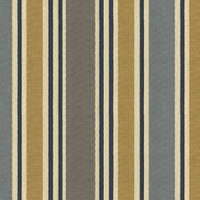 Beige/Grey/Blue Stripes Drapery and Upholstery Fabric by Kravet