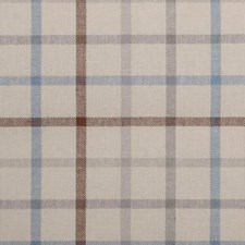 Blue/Brown Plaid Drapery and Upholstery Fabric by Duralee
