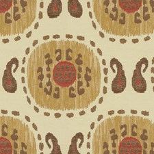 White/Brown/Burgundy Modern Drapery and Upholstery Fabric by Kravet