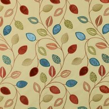 Terra/Green Embroidery Drapery and Upholstery Fabric by Duralee