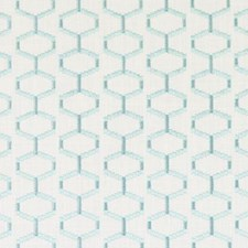 Aquamarine Embroidery Drapery and Upholstery Fabric by Duralee