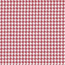 Red Houndstooth Drapery and Upholstery Fabric by Duralee