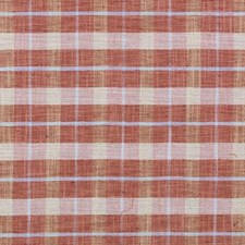 Strawberry Plaid Drapery and Upholstery Fabric by Duralee