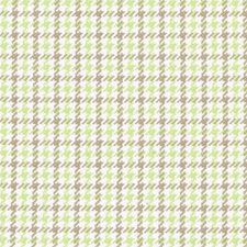 Celery Houndstooth Drapery and Upholstery Fabric by Duralee