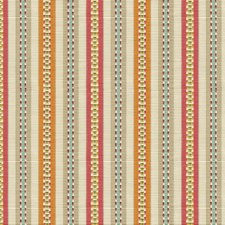 Beige/Orange/Pink Stripes Drapery and Upholstery Fabric by Kravet