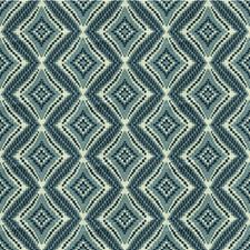 Blue/White Diamond Drapery and Upholstery Fabric by Kravet