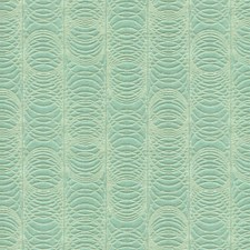 Beige/Teal Geometric Drapery and Upholstery Fabric by Kravet