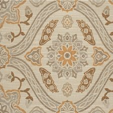 Beige/Wheat/Chocolate Damask Drapery and Upholstery Fabric by Kravet