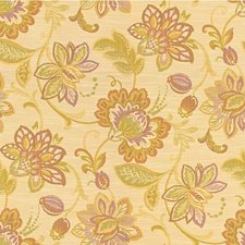 Pink/Light Green/Ivory Botanical Drapery and Upholstery Fabric by Kravet