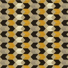 Black/Grey/Yellow Geometric Drapery and Upholstery Fabric by Kravet