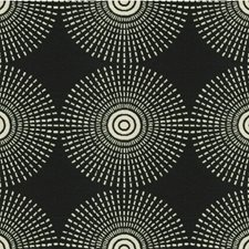 Noir Geometric Drapery and Upholstery Fabric by Kravet