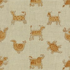 Flax Animal Drapery and Upholstery Fabric by Kravet