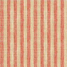 Coral/Beige Stripes Drapery and Upholstery Fabric by Kravet