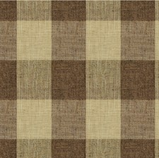 Brown/Beige Check Drapery and Upholstery Fabric by Kravet