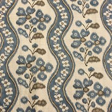 Blue Drapery and Upholstery Fabric by Clarence House