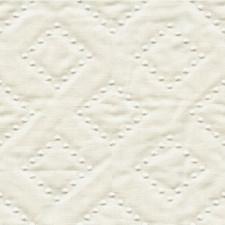 Cream Diamond Drapery and Upholstery Fabric by Kravet