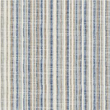 Blue/Beige/Taupe Stripes Drapery and Upholstery Fabric by Kravet