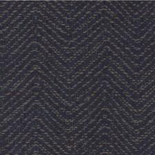Indigo/Taupe Herringbone Drapery and Upholstery Fabric by Kravet
