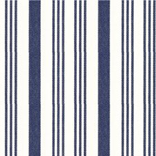 Dark Blue/Beige Stripes Drapery and Upholstery Fabric by Kravet