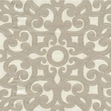 Ivory/Beige Lattice Drapery and Upholstery Fabric by Kravet