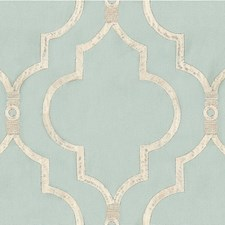 Light Blue/Beige Geometric Drapery and Upholstery Fabric by Kravet
