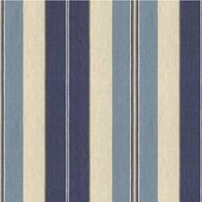 Blue/Light Blue/Beige Stripes Drapery and Upholstery Fabric by Kravet