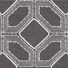 Charcoal/White Geometric Drapery and Upholstery Fabric by Kravet