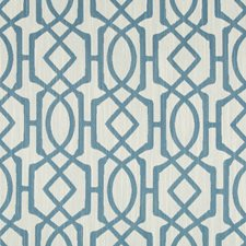 Blue/White Geometric Drapery and Upholstery Fabric by Kravet
