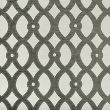 White/Grey Lattice Drapery and Upholstery Fabric by Kravet