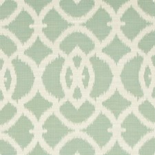 Turquoise/Beige/White Ikat Drapery and Upholstery Fabric by Kravet