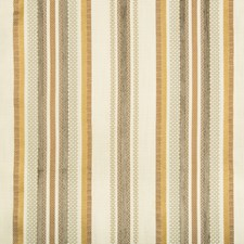 Ivory/Brown/Gold Stripes Drapery and Upholstery Fabric by Kravet